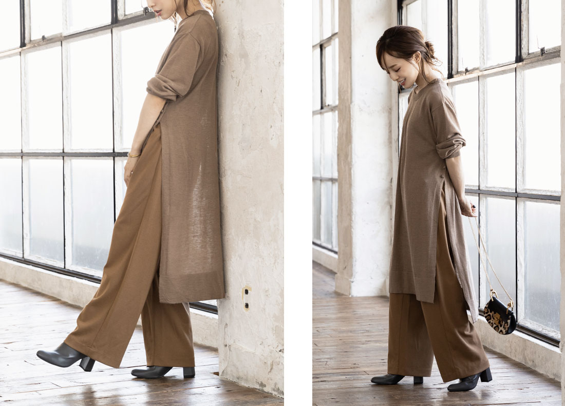 コラボアイテムを着用した田中亜希子さん