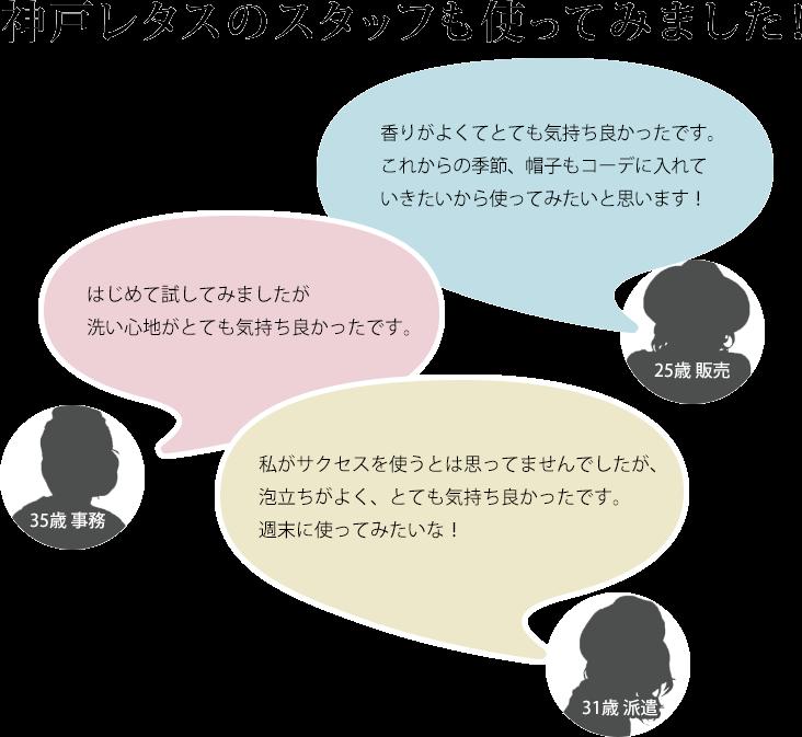 神戸レタスのスタッフも使ってみました