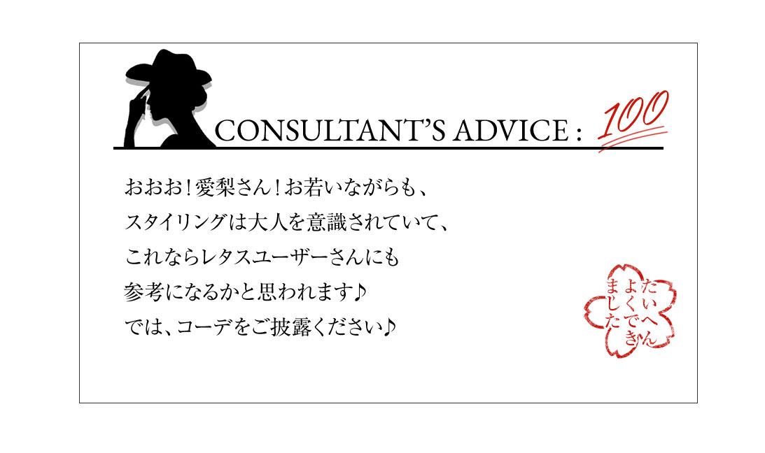 CONSULTANT'S ADVICE