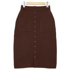 フロントボタンニットタイトスカート[M1975]