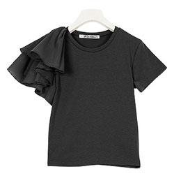 ≪トップス全品送料無料!12/9(月)朝11:59まで≫袖異素材Tシャツ [C3403]