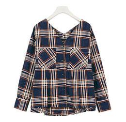 バックフレアチェックシャツ [C3411]
