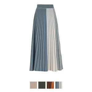プリーツニットロングスカート [M2600]