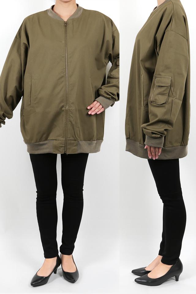 158cmのモデルが着丈72cmのジャケットを着たイメージ