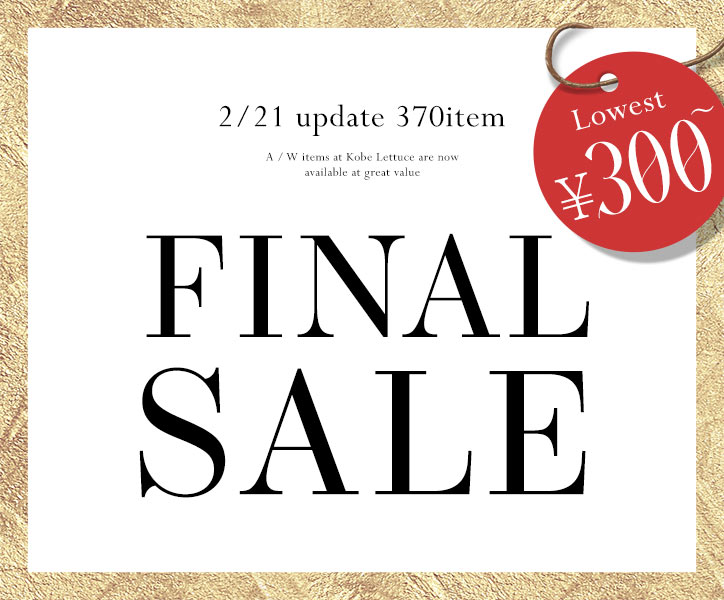 1/31 update 300item FINAL SALE LOWER¥300