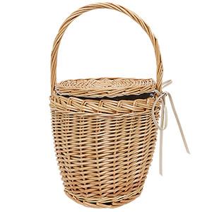 ≪サマーセール!!≫ラタン素材バスケットバッグ[B1031]