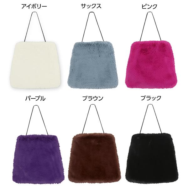 フェイクファー巾着バッグ [B1119]