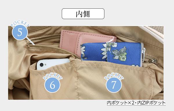 ≪サマーセール!!≫選べる[ポリorキャンバス]10ポケットトートバッグ [B1163]