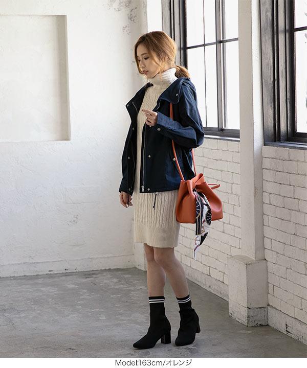 スカーフ付サイドノットバッグ [B123F]