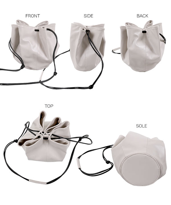 ラウンド巾着バッグ [B1324]