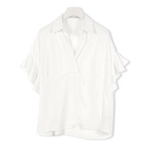 袖フリルスキッパーシャツ [C2295]
