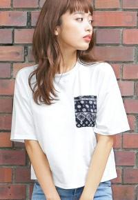 ショート丈半袖Tシャツトップス[C2340]