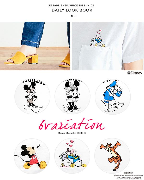 [Disney]選べる6type☆ロゴTシャツ [C2724]