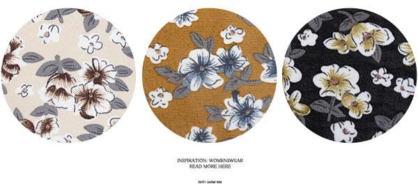 サイドスリット花柄シフォンガウン [C2830]