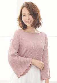 ランダムテレコ生地メロウヘム☆ワイドスリーブプルオーバートップス [C3057]