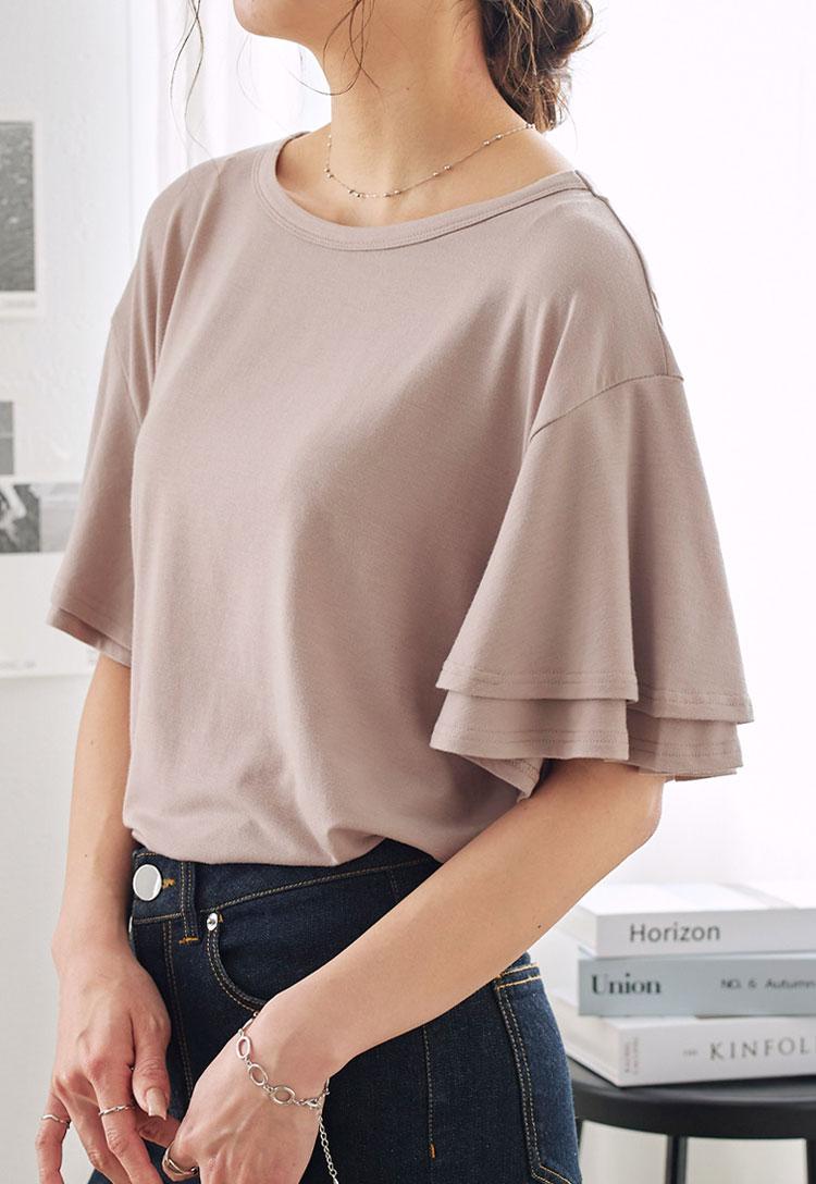 選べる4タイプ★落ち感がキレイなゆるシルエTシャツ [C3150]