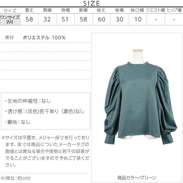 盛り袖コンシャス☆ボリュームスリーブブラウストップス [C3160]のサイズ表