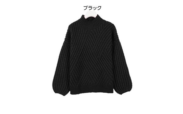 編地切替ニット [C3210]