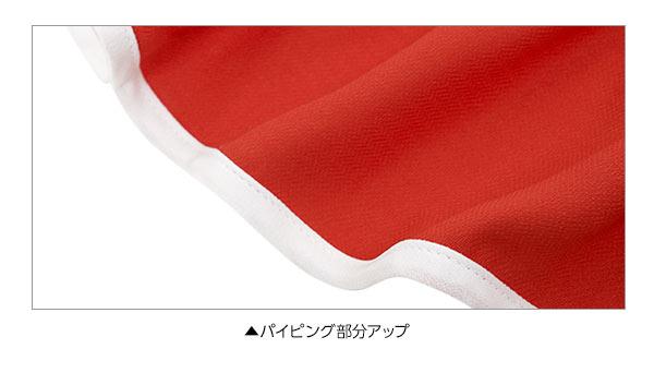 パイピングボリュームフリル★デザインブラウス [C3221]