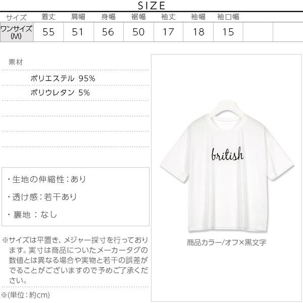 ロゴ入りボックスTシャツ [C3278]のサイズ表