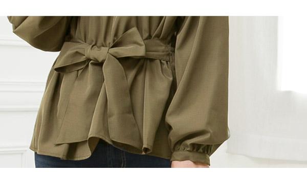 ウエストリボンバルーン袖ブラウス [C3360]