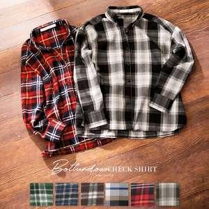 ≪WINTER SALE!!≫ボックスボタンダウンチェックシャツ [C3438]