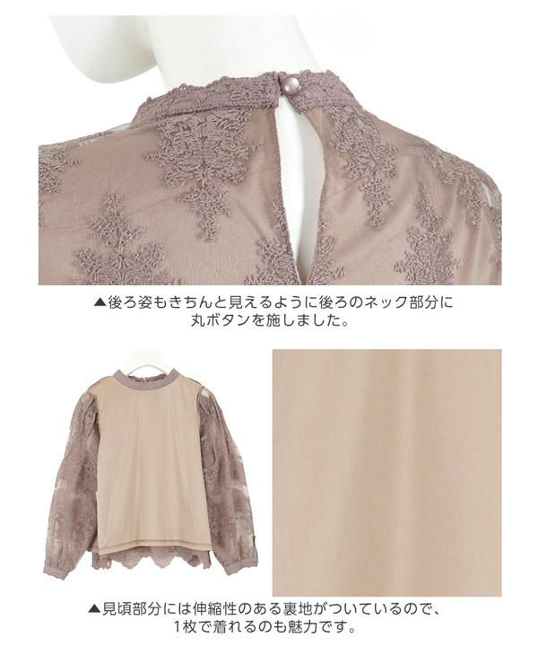 刺繍オーガンジーレースブラウス [C3579]