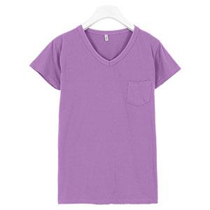 ポケット付きウォッシュ加工Tシャツ [C3787]