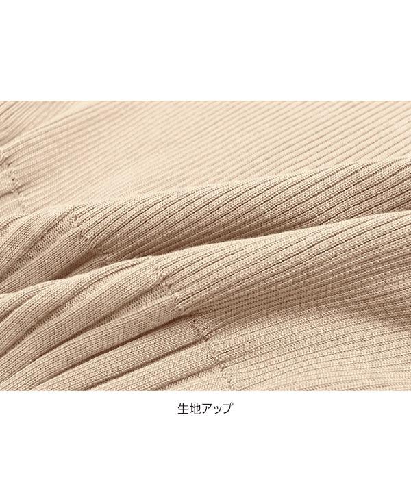 ≪今だけ送料無料!! 5/31(日)10:00〜6/1(月)朝11:59≫[近藤千尋さんコラボ]編み地切り替えサマーニット [C3854]