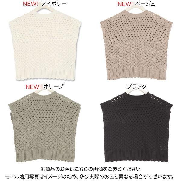透かし編みフレンチスリーブニット [C4331]