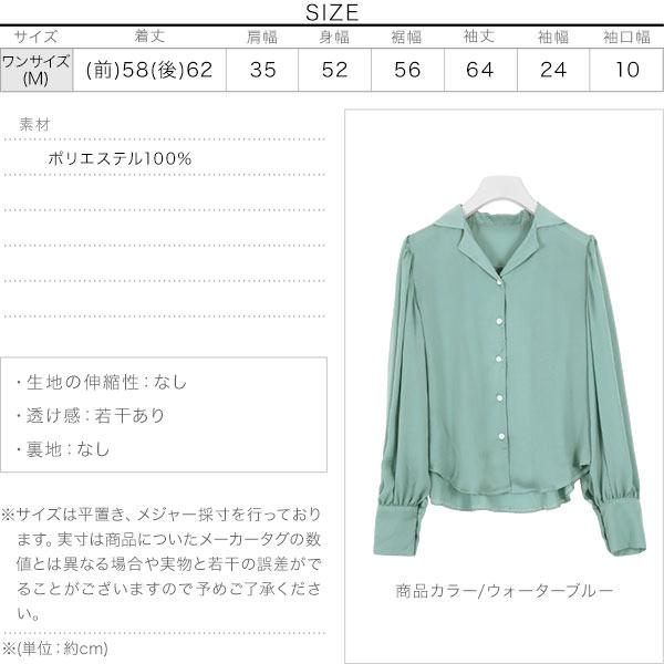 シェルボタンシアーシャツ [C4424]のサイズ表