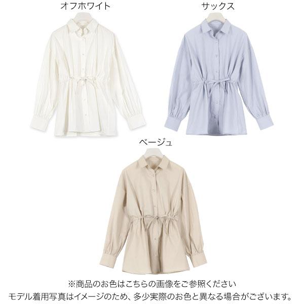 ≪トップス全品送料無料!3/2(月)朝11:59まで≫バルーン袖シャツ [C4456]