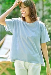 【アセリア】汗染み防止AラインTシャツ [C4469]