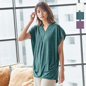 サイドギャザーチュニックTシャツ [C4667]