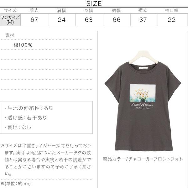 選べる2タイプ フォトTシャツ [C4769]のサイズ表