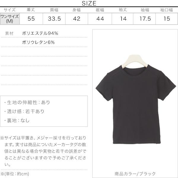 コンパクトリブTシャツ [C4822]のサイズ表