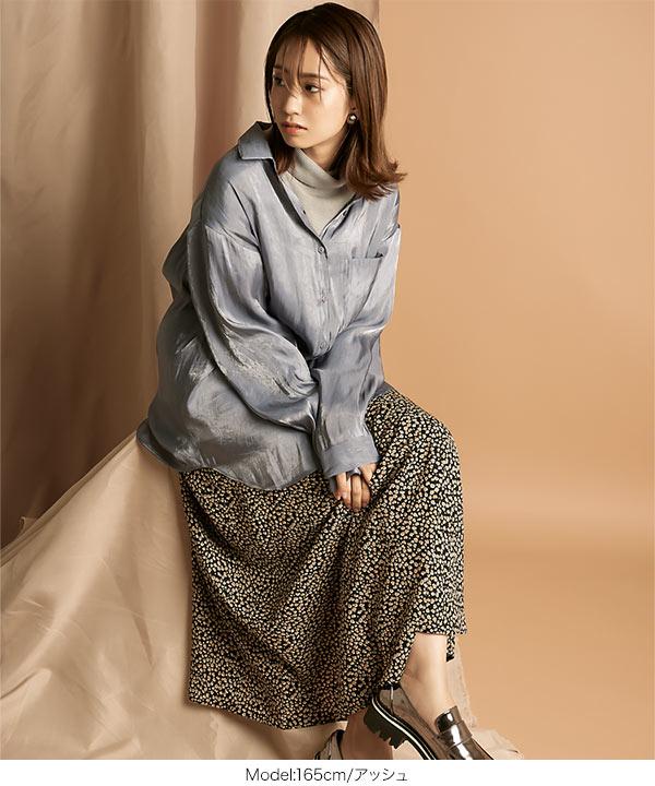 ≪セール≫サテンオーバーシャツ [C4921]