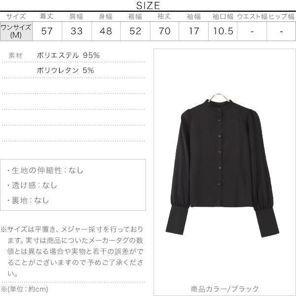 ボリューム袖ブラウス [C4930]のサイズ表
