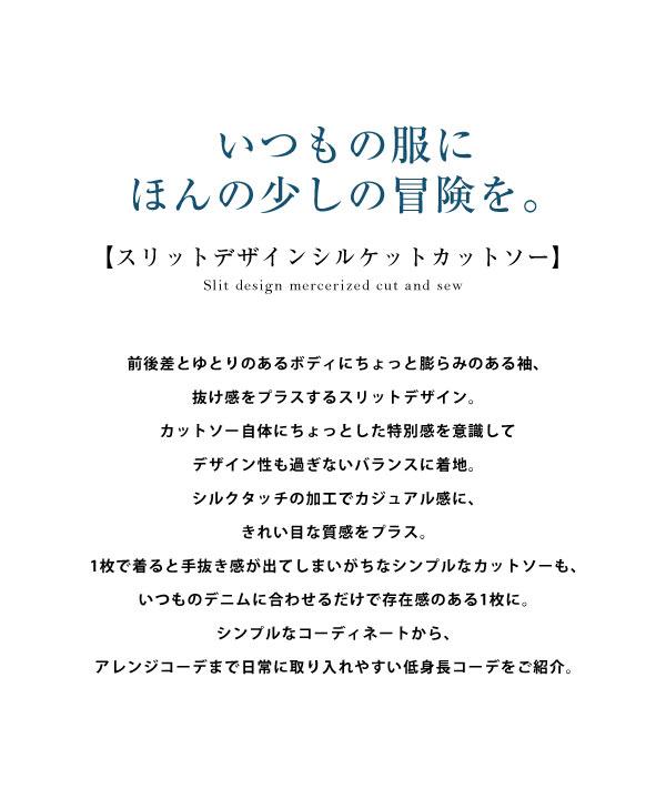 [ 田中亜希子さんコラボ ] スリットデザインシルケットカットソー [C4969]