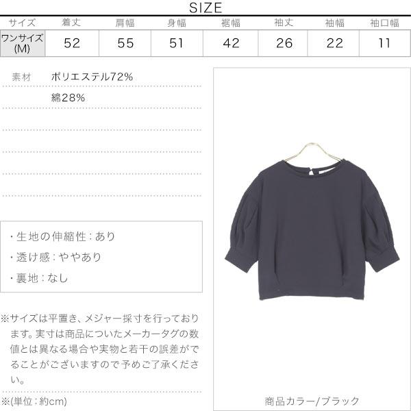 ポワン袖ポンチプルオーバー [C5263]のサイズ表