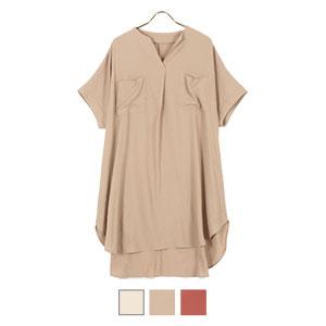 ビッグポケットゆるチュニックシャツ [C5451]