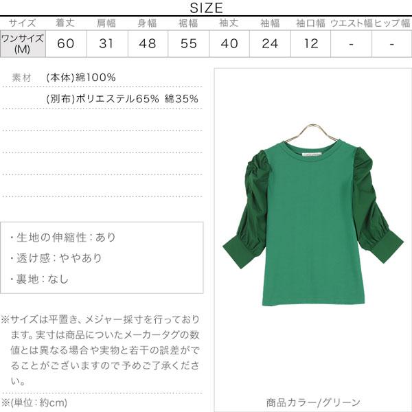袖切り替えパワショルプルオーバー [C5536]のサイズ表