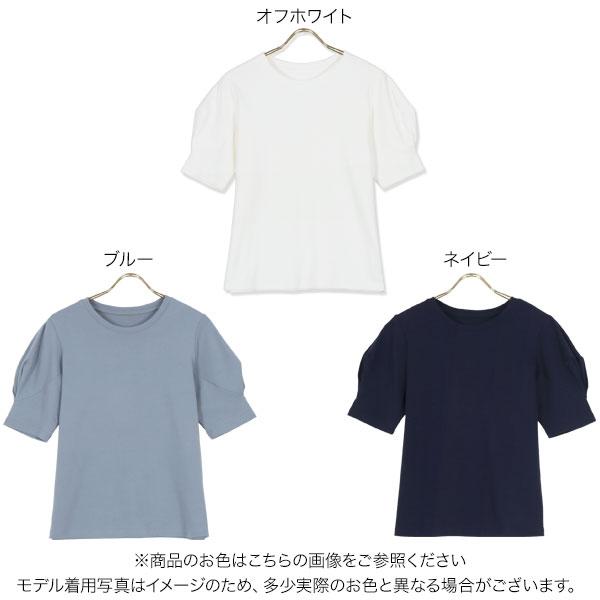 袖タックバルーンスリーブTシャツ [C5549]