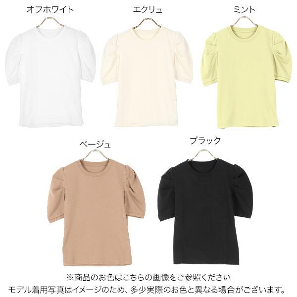 ボリュームスリーブTシャツ [C5594]