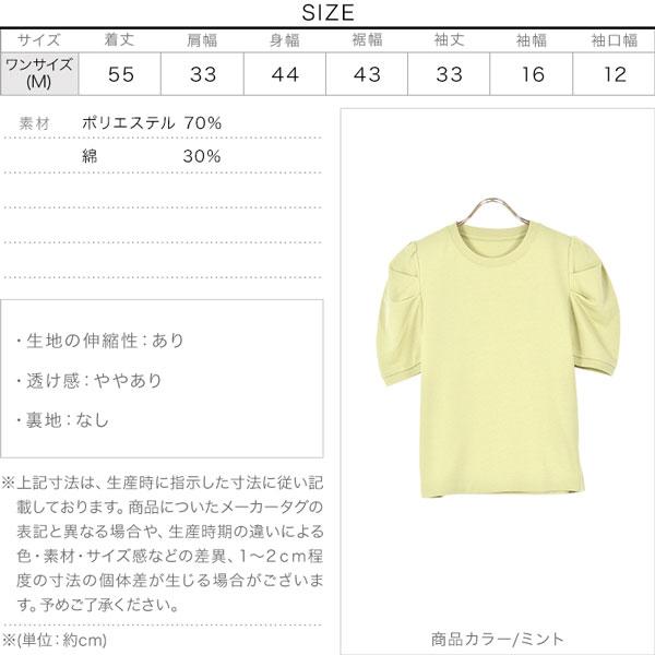 ボリュームスリーブTシャツ [C5594]のサイズ表