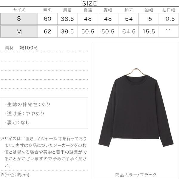 コットン100%シンプルロンT [C5610]のサイズ表