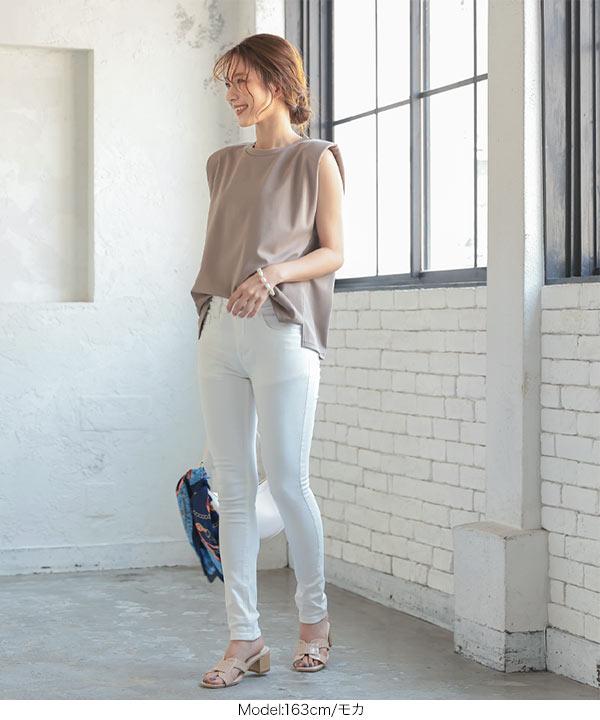 ショルダーパッド入りポンチTシャツ [C5627]