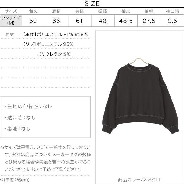 配色ステッチプルオーバー [C5643]のサイズ表