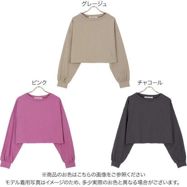 ショート丈コットンプルオーバー [C5657]