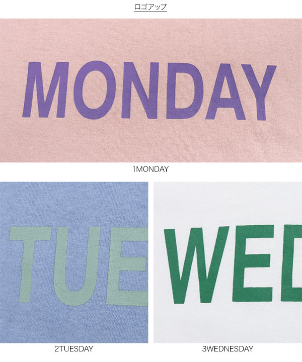 Day of the WeekロゴTシャツ [C5689]